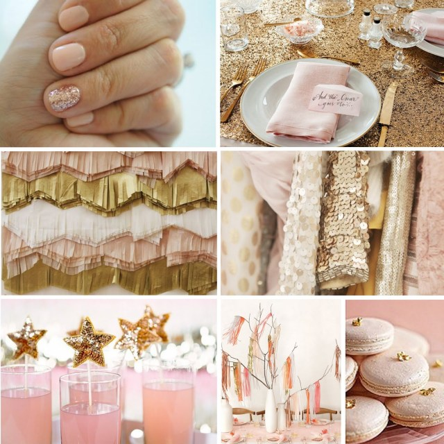 pink and gold bachelorette