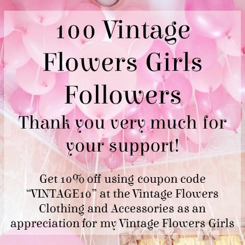 100 Vintage Flowers Followers
