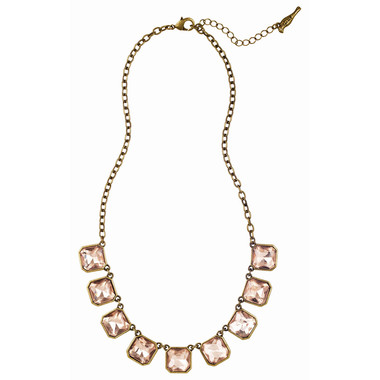Retro Glam Square Cut Necklace