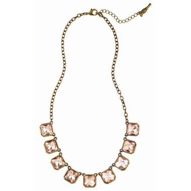 Retro Glam Square Cut Necklace