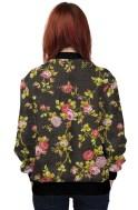 Vintage Floral Jacket Black-Back