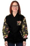 Vintage Floral Jacket Black